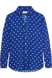 Saint Laurent Polka-dot crepe de chine shirt