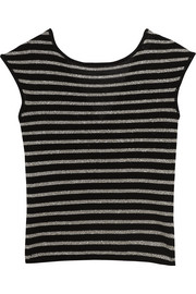 Saint Laurent Metallic striped wool-blend top