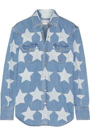Saint Laurent Printed denim shirt