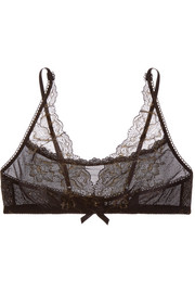 Rose D'Or lace and stretch-mesh soft-cup bra