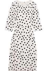 Dolce & Gabbana Polka-dot cady midi dress