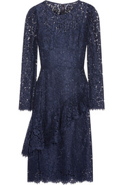 Ruffled corded lace dress