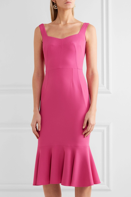 Dolce & Gabbana Ruffled stretch-crepe dress