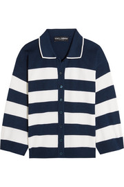 Dolce & Gabbana Striped silk-jersey cardigan