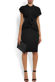 Givenchy Ruffled ribbed-knit dress