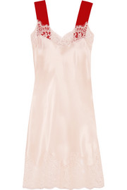 Givenchy Lace-trimmed silk-satin dress