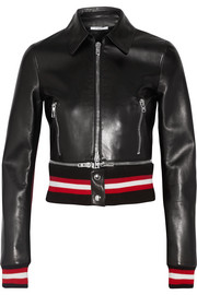 Givenchy Cropped leather biker jacket