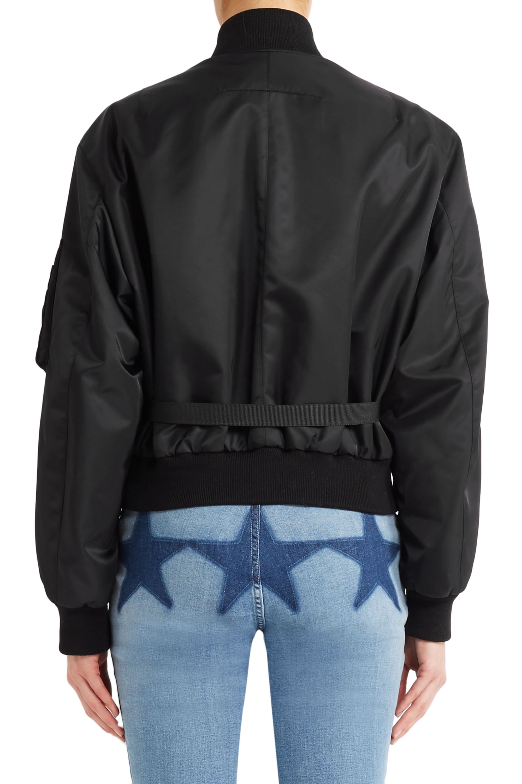Givenchy Canvas-trimmed shell bomber jacket