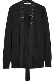 Givenchy Buckle-embellished wool and silk-blend cardigan