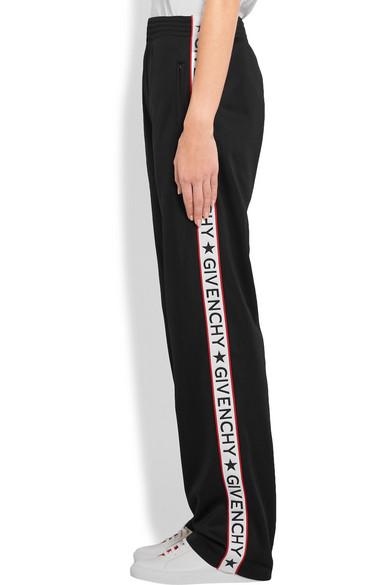 Givenchy Striped Satin Jersey Track Pants Net A Porter Com