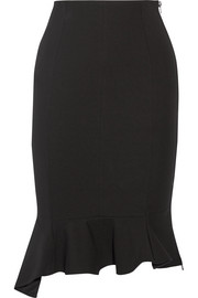 Givenchy Asymmetric ruffled stretch-crepe skirt
