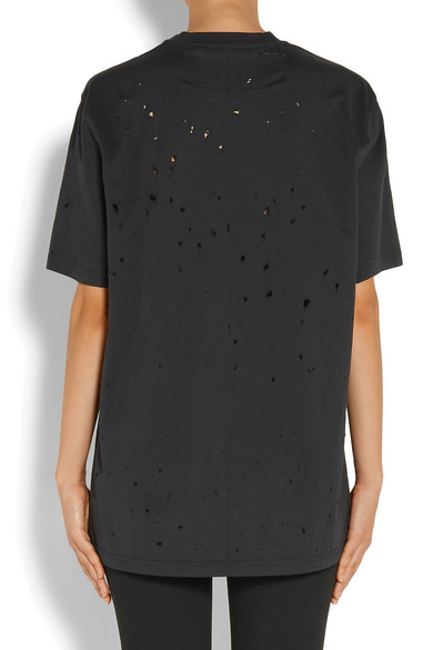 63b327826a6f6 Givenchy. Distressed printed cotton-jersey T-shirt.  518. Play