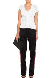Givenchy Ruffled ribbed stretch-knit top