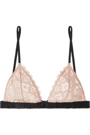 Fleur Du Mal Crocheted lace soft-cup triangle bra