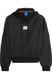 adidas Originals Mesh and jersey hooded top