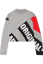 adidas Originals Printed bonded mesh and cotton-blend sweatshirt