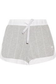 adidas Originals Ripstop-trimmed striped stretch-jersey shorts