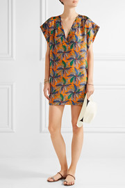 Emilio Pucci Printed silk mini dress