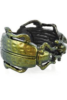 Bottega Veneta Sterling Silver Scarab Beetle Ring Net A Porter Com