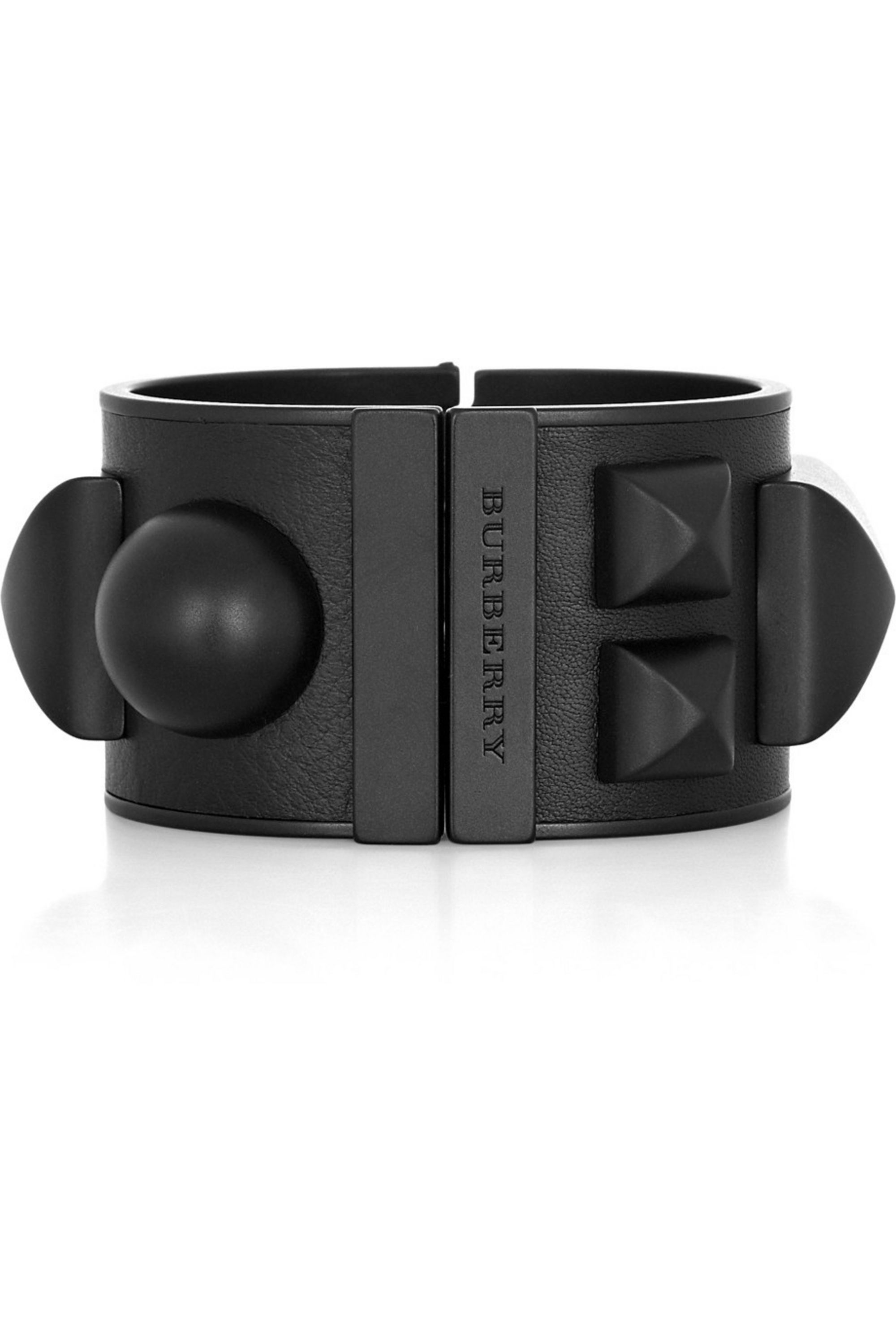 Burberry Leather and brass-studded cuff