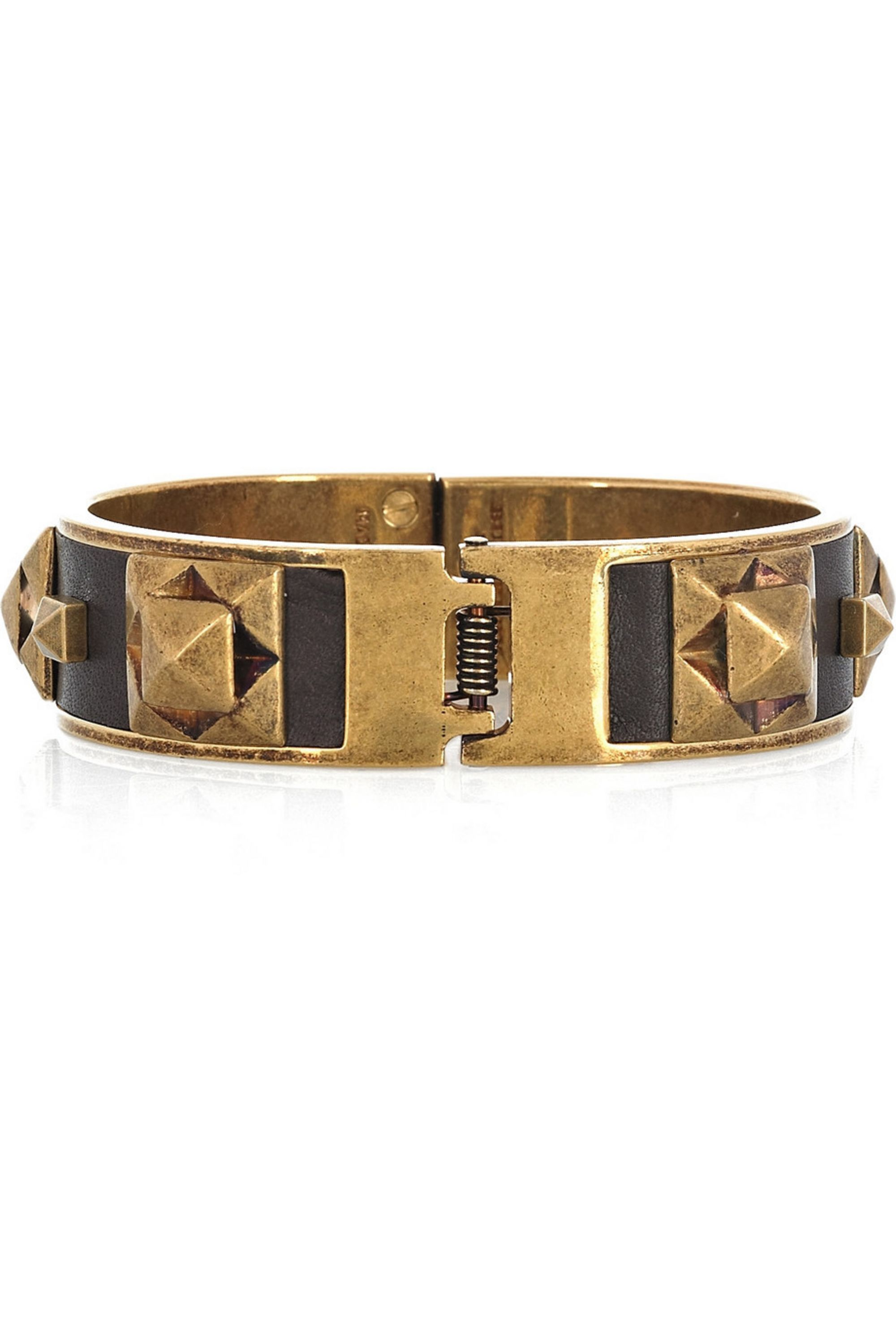 Burberry Leather and brass cuff