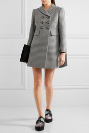 Alexander McQueen Double-breasted houndstooth tweed coat