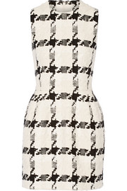 Alexander McQueen Houndstooth tweed mini dress