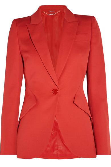 Alexander McQueen - Wool-crepe Blazer - Red