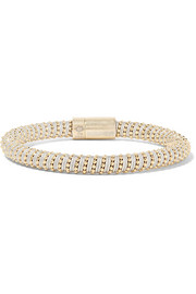 Twister 18-karat gold-plated silk bracelet