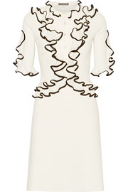 Alexander McQueen Ruffled wool dress