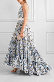 Alexander McQueen Floral-jacquard gown