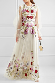 Alexander McQueen Embroidered tulle gown
