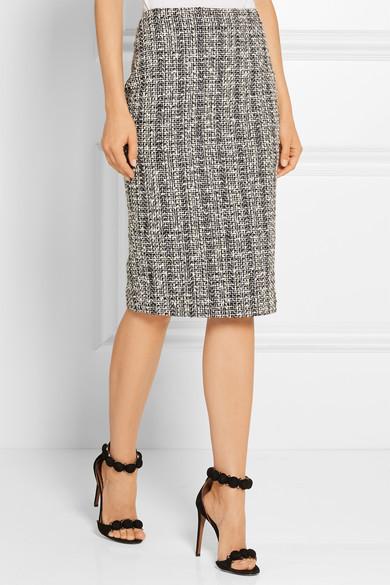 Alexander McQueen | Cotton and wool-blend tweed pencil skirt | NET ...