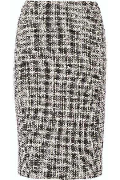 Alexander McQueen - Cotton And Wool-blend Tweed Pencil Skirt - Black