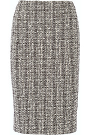 Alexander McQueen Cotton and wool-blend tweed pencil skirt