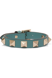 The Rockstud embellished leather bracelet