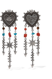 Valentino Silver-tone beaded earrings