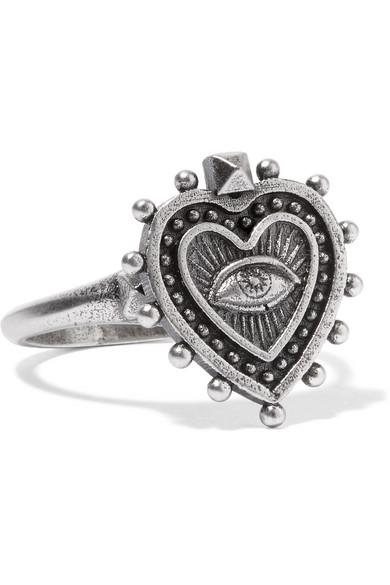 Valentino - Burnished Silver-tone Ring - 11
