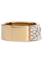 Valentino Gold-tone crystal ring