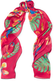 Valentino Tropical Dream printed silk scarf