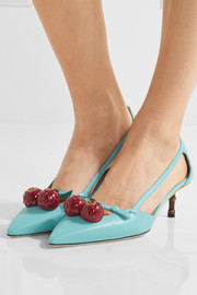 Gucci Embellished leather pumps