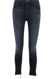 Mother The Stunner frayed high-rise skinny jeans