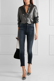 The Stunner frayed high-rise skinny jeans