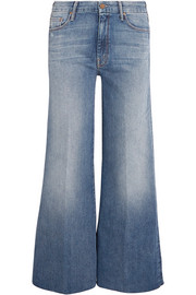 Mother The Roller cropped mid-rise flared jeans