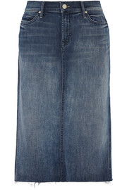 Mother Stretch-denim skirt