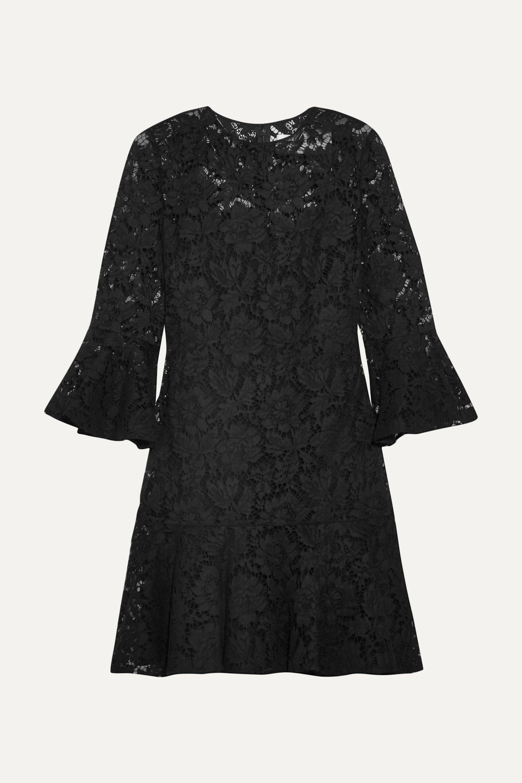 Valentino Ruffled cotton-blend guipure lace mini dress