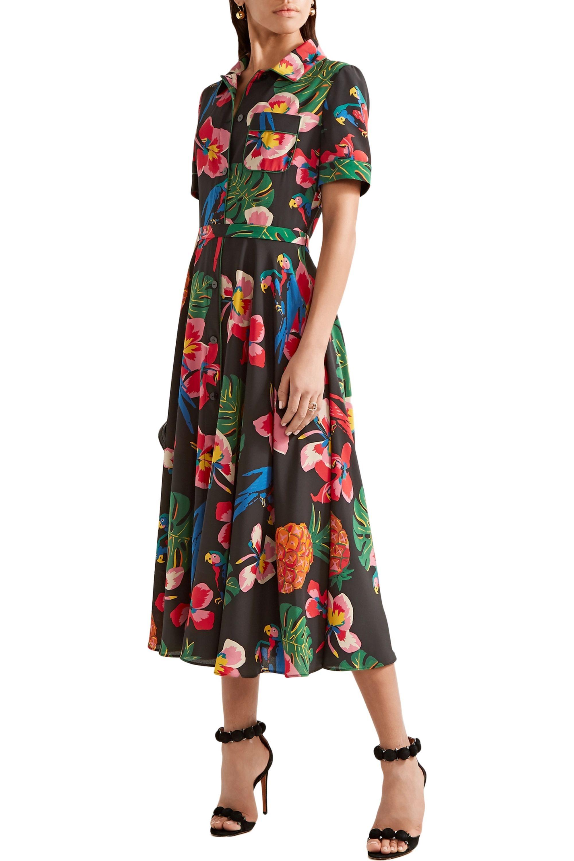 Valentino Printed silk crepe de chine shirt dress