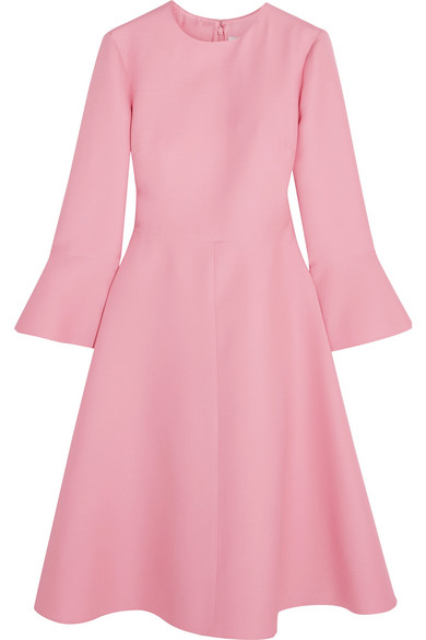 Valentino - Wool And Silk-blend Dress - Baby pink