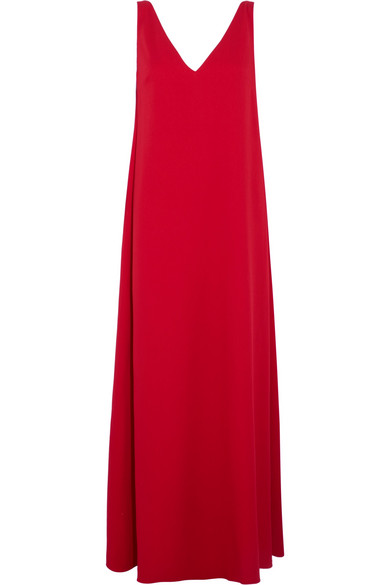 Valentino - Draped Wool-crepe Gown - Red