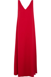 Valentino Draped wool-crepe gown